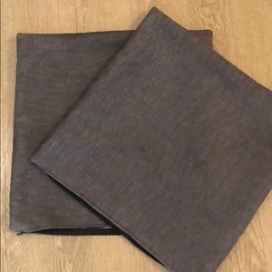 2 Grey Cushion Covers